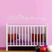 "mairgwall Vinyl Baby Wandtattoo Kinder Shhh... Baby Dreaming Home Decor Schlafzimmer Art DEKORATION, Vinyl, Customized-colors, 8""""h x58""""w"