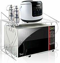 Maisax Küchenregal Mikrowellenhalter Eisen Standregal Küchenschrank (Weiß)