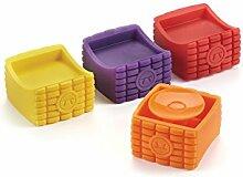 Maiskolbenhalter Set of 4 Multicolor Spreaders Set
