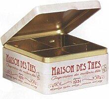 Maison des Thes Tee Caddy–geteilt–Dose