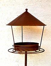 H/öhe 120 cm Maison en France Gartenstecker Tannenbaum 56 x 40 cm hochwertiger Gartenstecker mit Tannenbaum Baum dekorativer Tannenbaum Metall mit Edelrost