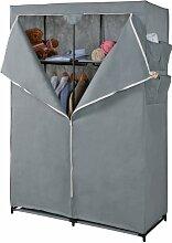 Maison Futée Schrank 2Einlegeböden & Kleiderschrank aus Vliesstoff Grau, Schwarz