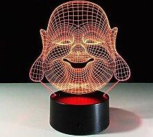 Maitreya 7 Farbe Nachtlicht 3D Atmosphäre Lampe