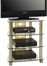 MAJA-Möbel 1609 9978 TV- HiFi-Rack, Messing -
