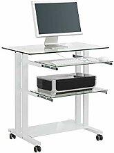 MAJA Möbel Computertisch Glas Weiß