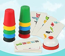 mAjglgE Quick Speed Tischring Karten Cup Stapeln