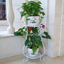 MAJOZ Blumenständer Metall Pflanzenregal 2 Ebenen
