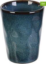 Make a Wish - 6er-Set: Espressobecher in Blau -
