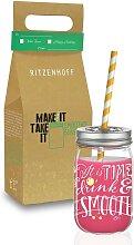 Make It Take It Design Smoothieglas DRINK mit 2