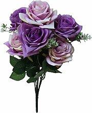 Makefortune 7 Kopf Künstliche Gefälschte Rosen