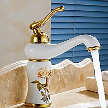 Makej Antike Waschbecken Mischbatterie Mit Hoher Qualität Aus Massivem Messing Badezimmer Waschbecken Wasser Mischbatterien D