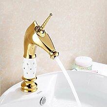 Makej Massiv Messing Wasserfall Armatur Mit Keramik- Und Körper Von Diamond Waschbecken Badezimmer Waschbecken Wasserhahn Wasserhahn Einseitiger Griff