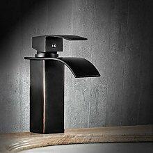 Makej Platz Im Europäischen Stil Schwarz Toilette Waschbecken Wasserhahn Amerikanische Wasserfall Wasserhahn Massiv Messing Bad Armatur Heiß Und Kalt Kleine