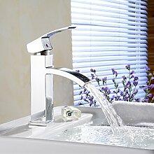Makej Platz Wasserfall Armatur Mit Einem Badezimmer Waschbecken Wasserhahn Griff Chrom Poliert Badezimmer Wasserfall Tippen