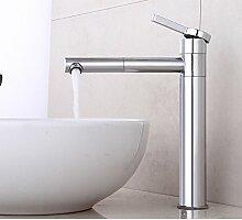 Makej Universal Waschbecken Wasserhahn Messing Poliert Silber Hahn Für Küche Einzigen Griff Loch Klassische Wasserhahn Deck Mount Mixer Leitungswasser