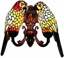 makenier Vintage Tiffany-Stil gebeizt Glas Doppelt