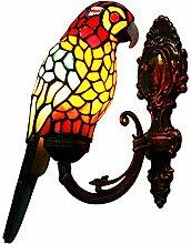 Makenier Vintage-Wandleuchte Papagei,