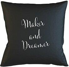 Maker And Dreamer Artist Kissenbezug Haus Sofa Bett Dekor Schwarz