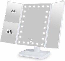 Makeup Spiegel Beleuchtung mit 24 LEDs 3 Fach