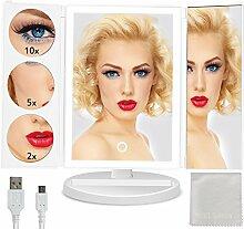 Makeup Spiegel Beleuchtung mit 38 LEDs 3 Fach