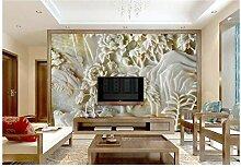 Makeyong 3D-Wandtapete mit Blumenmotiv und