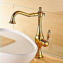 Makeyong Gold Finish Becken Wasserhahn Bad