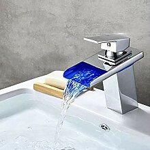 Makeyong Waschtischarmaturen Led Licht Wasserfall