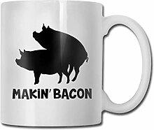 Makin '-Bacon 330ml Tasse Keramik Kaffeetasse