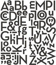Making Memories Puffy Alphabet Aufkleber, Schwarz