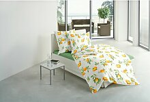 Mako-Satin-Bettwäsche 3362-31 Orange, 135X200 Cm