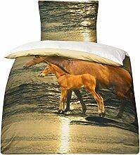 Mako Satin Pferde Bettwäsche Pferdebettwäsche