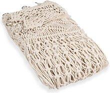 Makramee-Vorhang aus naturfarbener Baumwolle