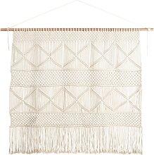 Makramee-Wandteppich aus Baumwolle und Schnur