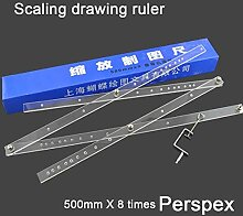 Mal Zeichnung Vergrößerungs Lineal Skalierung