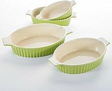 MALACASA, Serie Bake.Bake, 4 teilig Set Porzellan