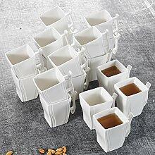 MALACASA, Serie Flora, 18 TLG. Set Kaffeeservice