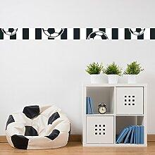 malango® - Fußball-Bordüre schwarz weiß