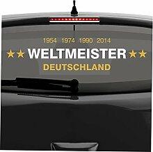malango® Aufkleber Deutschland Weltmeister 2014 Autoaufkleber Sticker Weltmeisterschaft Germany 60 x 14 cm dunkelrot-gold dunkelrot/gold 60 x 14 cm