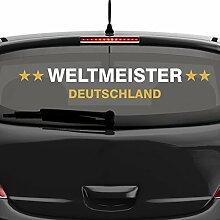 malango® Aufkleber Deutschland Weltmeister 2014 Autoaufkleber Sticker Weltmeisterschaft Germany 120 x 19 cm rot-gold rot/gold 120 x 19 cm