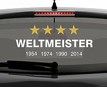 malango® Aufkleber Deutschland Weltmeister 2014 Autoaufkleber Sticker Weltmeisterschaft Germany 60 x 24 cm violett-gold violett/gold 60 x 24 cm