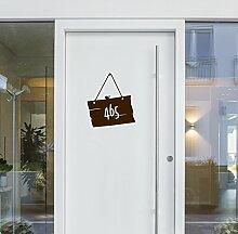 malango® Aufkleber - Holzschild mit Wunschnummer erhältlich in versch. Farben & Größen 71 x 80 cm mattweiß