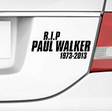malango® Aufkleber RIP Paul Walker Schauspieler Fast and Furious Sticker Tuning Style ca. 40 x 18 cm türkis