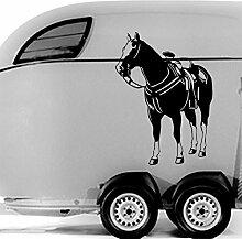malango® Auotaufkleber Reitpferd Aufkleber Auto