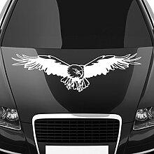 malango® Autoaufkleber Adler auf Motorhaube Aufkleber Dekoration Sticker Design Tuning Szene ca. 120 x 33 cm hellgrau hellgrau ca. 120 x 33 cm