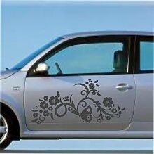 malango® Autoaufkleber Frühlingszauber 2 im Set Auto Aufkleber Sticker Frühling 48 x 100 cm dunkelrot dunkelrot 48 x 100 cm