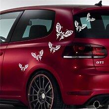 malango® Autoaufkleber Schmetterlinge Butterfly Aufkleber Auto Design Styling Tuning Szene Siehe Beschreibung dunkelgrün dunkelgrün Siehe Beschreibung