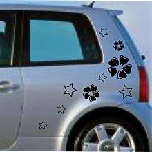 malango® Autoaufkleber Sterne Blumen Auto