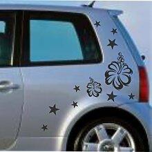 malango® Autoaufkleber Sterne Blumen Design