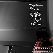 malango® Baby fährt mit Autoaufkleber Auto Design Styling Tuning Szene ca. 25 x 16 cm pink