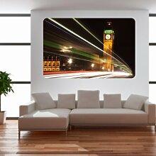 malango® Big Ben London Wandbild Wand Sticker Aufkleber Dekoration Deko Styling Design 80 x 122 cm digitalgedruckt digitalgedruckt 80 x 122 cm